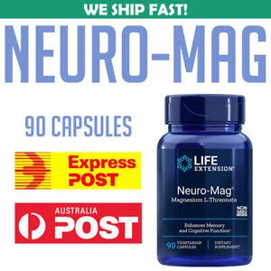 Life-Extension-Neuro-Mag-Magnesium-L-Threonate-90-Veggie-Caps-AU-STOCK