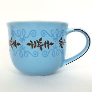 Starbucks-Coffee-Cup-2006-Blue-Brown-Scroll-11-fl-oz-Tea-Cup-Mug-Drink
