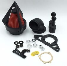 Matte Black Triangle Air Cleaner For Harley Softail Fat Boy Dyna Street Bob Wide
