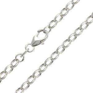 Erbskette-925-Silber-Rhodiniert-Silberkette-Halskette-Echtsilber-Br-3-10mm-NEU