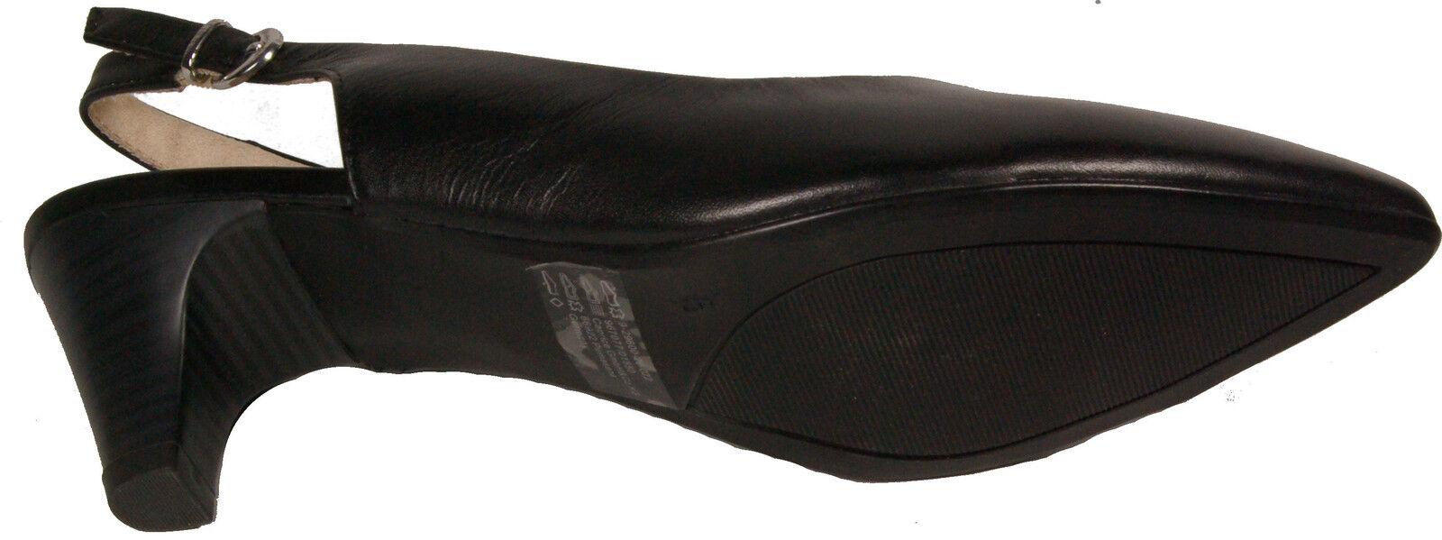 CAPRICE laufen Schuhe Sling Pumps Schwarz echt Leder - laufen CAPRICE auf Luft - NEU aaebeb