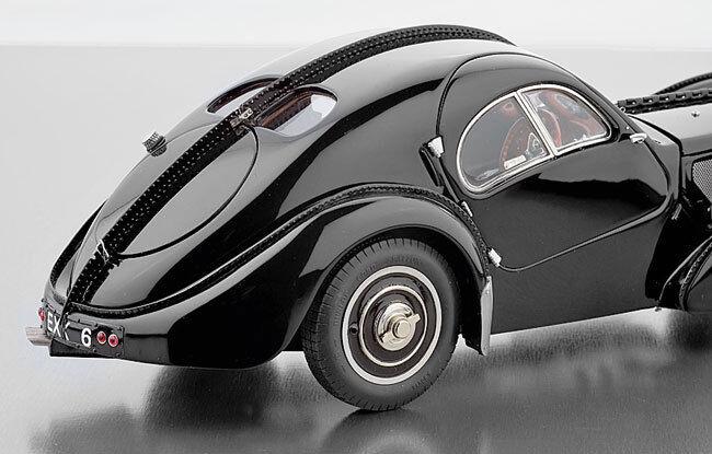 1938 Bugatti Type 57 Sc Atlantic en Noir par Cmc M-085 en 1 18 Échelle