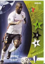 Miguel FC Valencia Panini Card Uefa Champions Leaque 2007 +A36990
