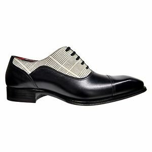 Mezlan Black Albrecht Cap Toe Oxford Mens