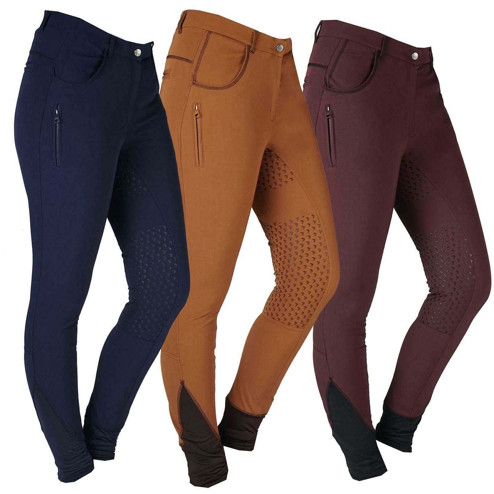 Horka Camargue Womens Breech Silicon Fullseat Stretchy Riding Pant Elastic Ankle