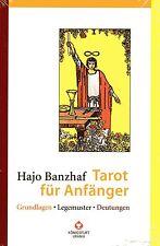 TAROT FÜR ANFÄNGER - Hajo Banzhaf BUCH - NEU OVP