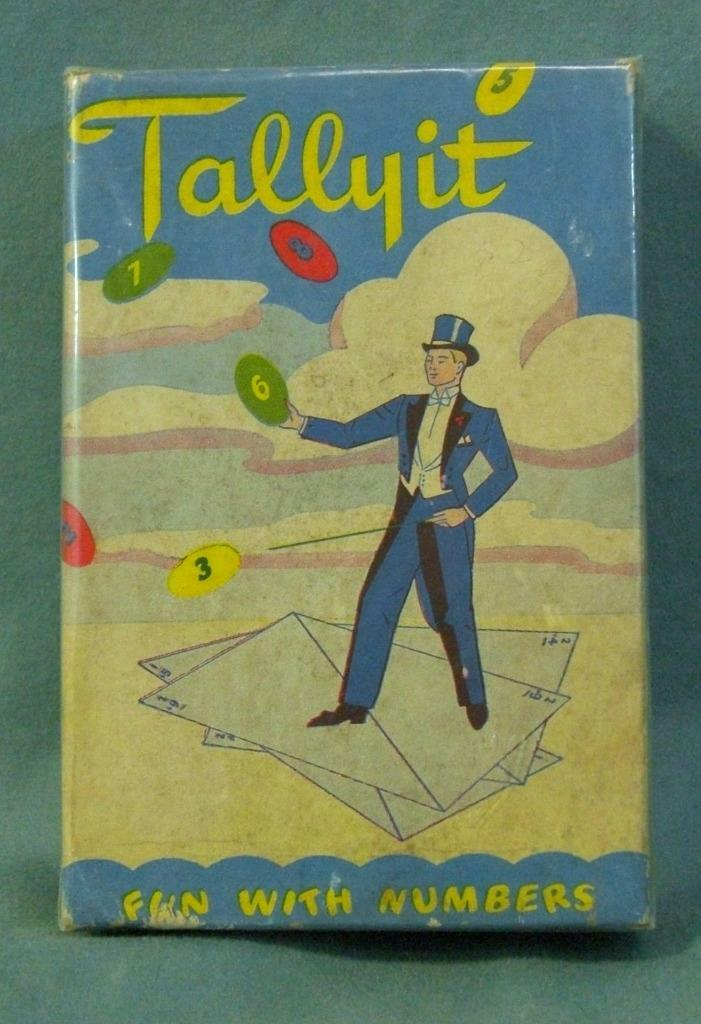 Rare TALLY IT fun with numbers 1945 card game  World War II  New York New York