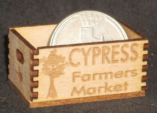 Dollhouse Miniature Cypress Farmers Market Produce Crate 1:12 Farm Store Texas