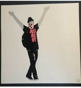 Just-Riot-By-Pure-Evil-Ltd-Print-Banksy-Imbue-Eine-Dface