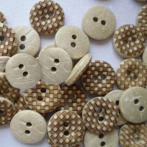 10 Knöpfe Hemdenknöpfe Bluseknöpfe Kokosnussknöpfe Cocos buttons Trachtenknöpfe