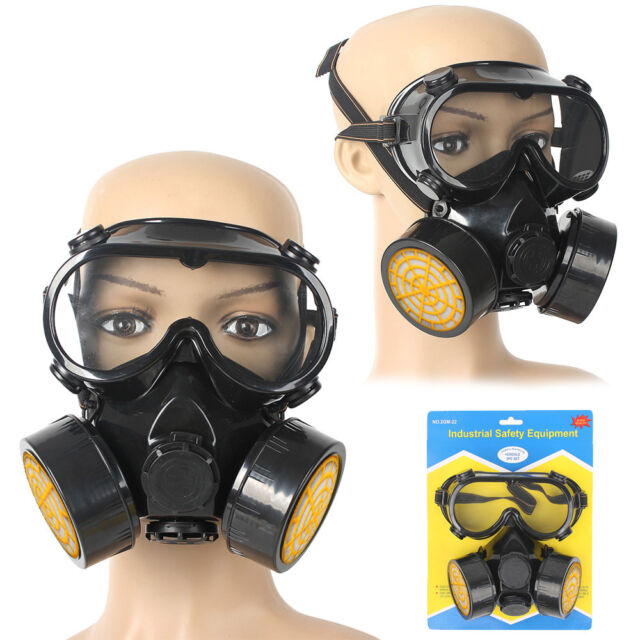 Dual Chemical Industrial Gas Anti-Dust Spray Paint Safety Face Mask Respirator
