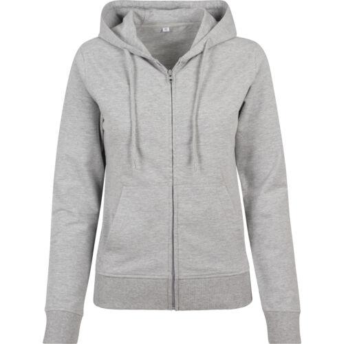 Full Zip Hoodie Sweatshirt Build Your Brand Women/'s Terry Zip Hoodie BY069