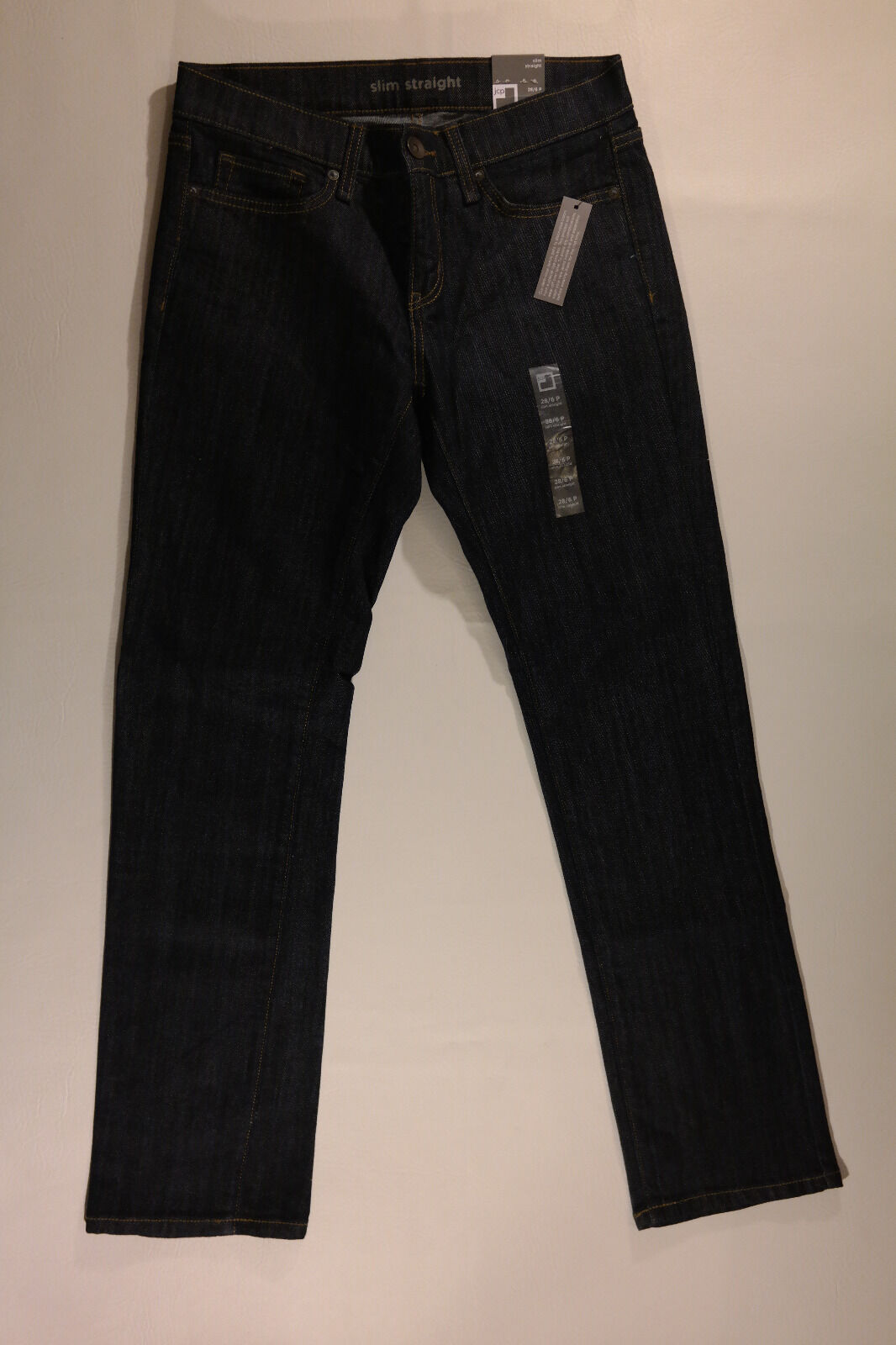 WOMEN'S 28 6P, STRAIGHT JEANS BY SLIM STRAIGHT, BRAND NEW