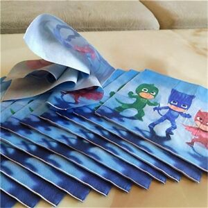 20-pcs-PJ-MASK-NAPKIN-TISSUE-PAPER-PJ-MASK-PARTY-SERVEWARE-TABLEWARE