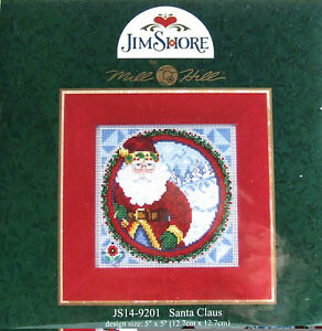 Mill-Hill-Cross-Stitch-Bead-Kit-039-Santa-Claus-039-by-Jim-Shore-14-9201