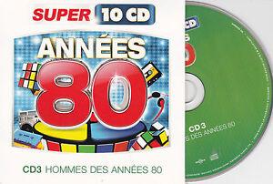 CD-CARTONNE-CARDSLEEVE-ANNEES-80-HOMMES-15T-LAHAYE-MADER-ROUSSOS-BLANC-MENEZ-PY