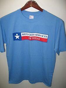 Réfugié Services De Texas Austin Dallas Houston Advocate État Drapeau T Shirt M