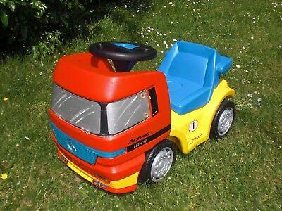 Trendmarkierung Big Actros Shell Racing Team Mercedes Benz Rot Gelb Blau Rutscher Lkw Bobby Car Angenehm Im Nachgeschmack Bobby Car Spielzeug