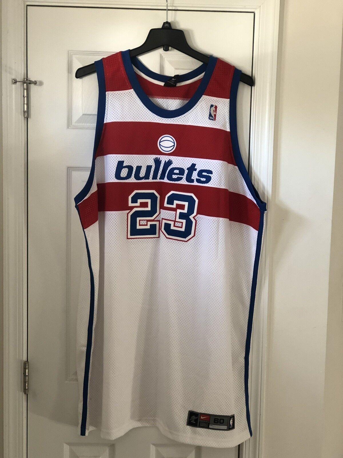 info for d6a95 b8fd0 Nike Authentic Michael Jordan Washington Bullets Wizards Jersey 60