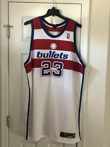 quality design c55a1 841b1 Details about Nike Authentic Michael Jordan Washington Bullets Wizards  Jersey 60 New!