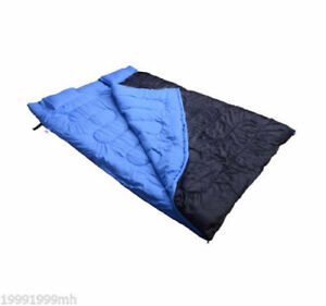2-Person-Sleeping-Bag-Double-Outdoor-Camping-w-2-Pillows