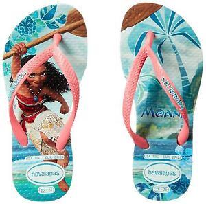 60aab69d458 Havaianas Slim Kids Disney Moana Mint Green Rubber Flip Flops All ...