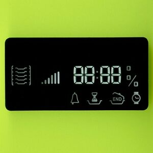 YELLOW LED CLOCK DISPLAY 7 SEGMENT 4×10mm + 18 INDICATORS CA DIP-19 75×37×10mm †