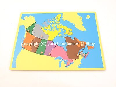 Small Map Of Canada.New Montessori Geography Family Set Small Board Puzzle Map Of Canada Ebay