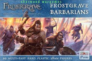 28mm Frostgrave Barbarians, Multipose Adventurers, Skirmish, Swordpoint, D & D