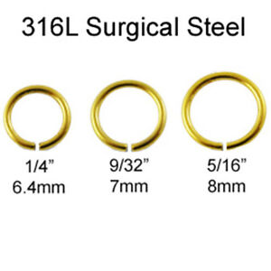316L-Surgical-Steel-Nose-Ring-Septum-Hoop-Seamless-Anodized-Gold-18-Gauge-18G