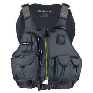 NRS-Adult-Chinook-Fishing-Boating-PFD-Small-Medium-Safety-Life-Jacket-Charcoal
