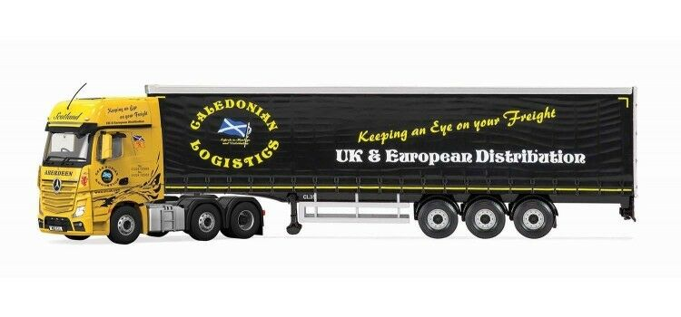 Cc15807 corgi mercedes - benz actros mp4 curtainside caledonian 1  50 lkw - neues modell
