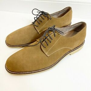 Banana Republic Men's Leather Suede Oxford Size 10M Honey Brown
