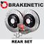BRAKENETIC PREMIUM GT SLOT Brake Rotors+POSI QUIET Ceramic Pads BPK90949 REAR