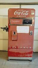 VINTAGE 1954 COCA COLA COKE MACHINE VENDO MODEL #F83 EMBOSSED WORKS PERFECT!