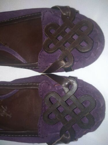 Mocassini viola Slip 6m Donna Furstenberg Pelle scamosciata Flats Von On Diane Taglia OSwEfxaqq1