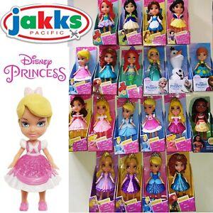 DISNEY PRINCESS MINI Bambin articulées Doll 3 in (environ 7.62 cm) FROZEN paillettes poupées Moana nouveau