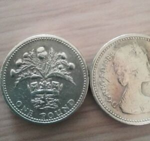 Dettagli su One Pound £1 Coin 1984 & 1989 One Pound Coin