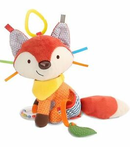 NEW Skip Hop Bandana Buddies Activity Fox Plush Teether Baby Developmental Toy