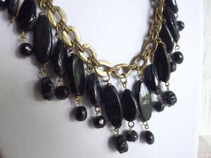 black-Africa-Collier-Halskette-Vintage-schwarze-Perlen