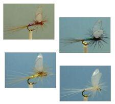 24 Artflies Flash Body Parachute Dry Flies - 4 Colors, #18, [PN170-A]