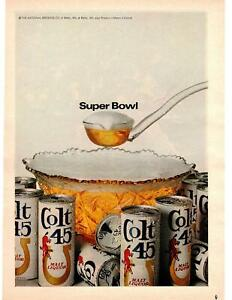 1968-Colt-45-Super-Bowl-Malt-Liquor-Beer-Cans-Punch-Bowl-Balto-Maryland-Print-Ad
