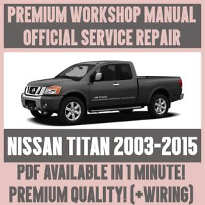 workshop manual service repair guide for nissan titan 2003 2015 rh ebay co uk nissan titan repair manual free nissan titan parts manual