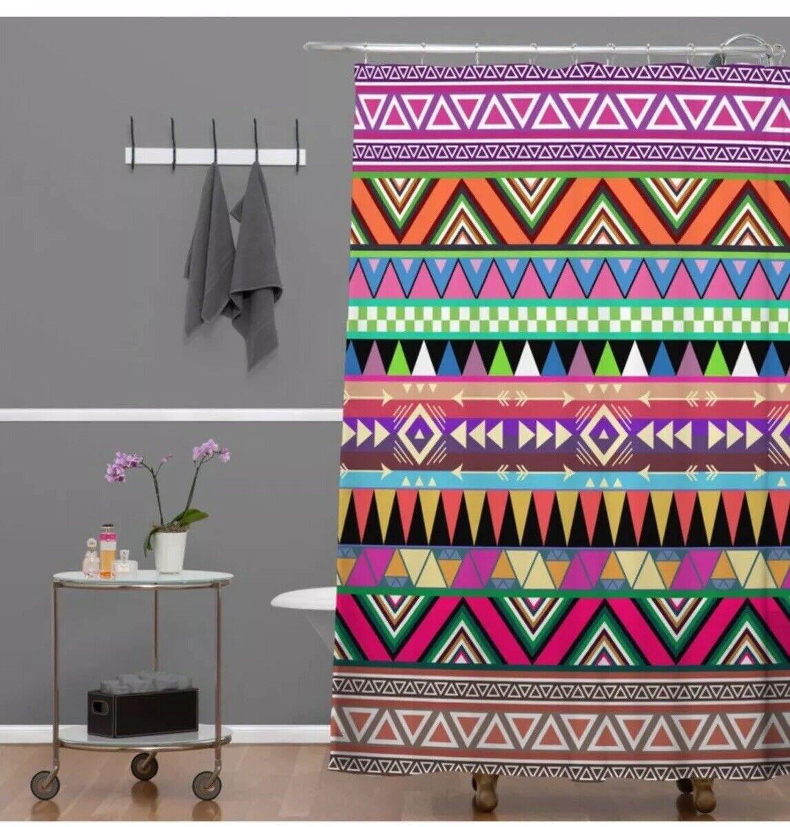 NEW NEW NEW Weiß Grün Overdose Shower Curtain DENY 0152c4