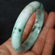 TOP JADE BANGLE 58 mm : 327,1 Ct Natürliche Grüner Jade Armreif (Jadeit ) China