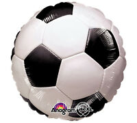 Soccer Ball 17 Foil Balloon Double Sided 3 Pack Helium. Fast Shipping