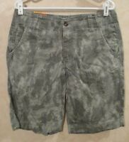 Mossimo Sz 32 Flat Front Low On Waist Gray Camo Jean Shorts$19.99 Tag