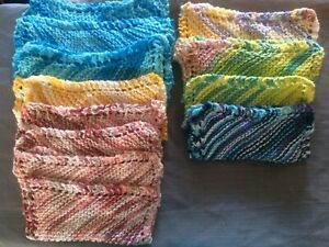 New-Hand-Knit-Crafted-100-Cotton-Durable-Dish-Face-Cloths-8