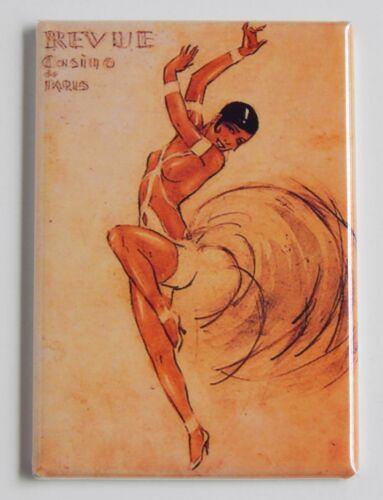 """Josephine Baker FRIDGE MAGNET revue dancing poster /""""style A/"""""""