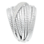 ITALIAN-SILVER-STERLING-SILVER-PAVE-CRYSTAL-TUBOGAS-RING-SIZE-6-QVC-87-00 thumbnail 3